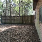 Fence to Left of Workshop